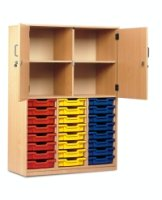 Monarch 24 Shallow Tray Storage Cupboard