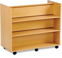 Monarch Library Unit With 3 Angled Shelves 1 Side and 3 Horizontal Shelves On The Other