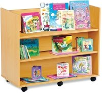 Monarch Library Unit With 3 Horizontal Shelves Each Side