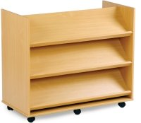 Monarch Library Unit With 3 Angled Shelves Each Side