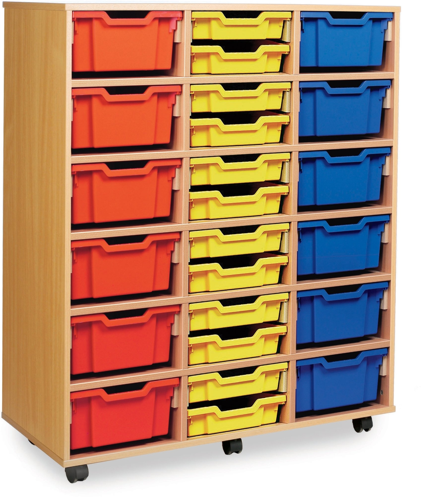 classic tray storage unit 24 shallow and 12 deep trays. Black Bedroom Furniture Sets. Home Design Ideas