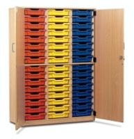 Monarch 48 Shallow Tray Storage Cupboard with Lockable Doors