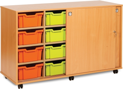 Classic Tray Storage Unit 8 Deep and 6 Extra Deep Tray Units Without Doors