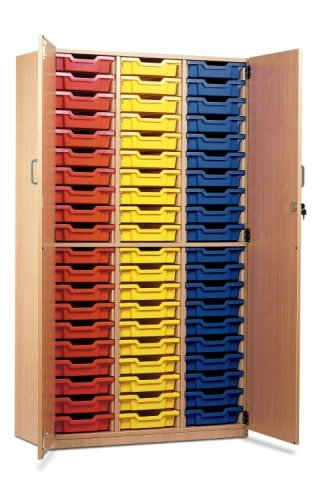 60 Shallow Tray Storage Cupboard with Lockable Doors