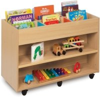Monarch Double Sided 6 Bay Kinderbox with 1 Fixed Shelf Each Side