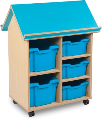 Book House with 3 Deep & 2 2 Extra Deep Trays