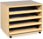 4 Sliding Drawer A1 Paper Storage Unit