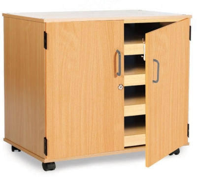 4 Sliding Drawer A1 Paper Storage Unit With Doors