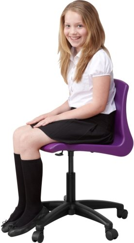 Metalliform NP Swivel Chairs With Black Base - Seat Height 420-480cm
