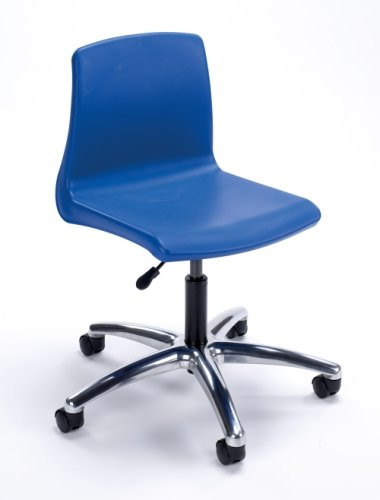 Metalliform NP Swivel Chair With Chrome Base - Seat Height 420-480mm