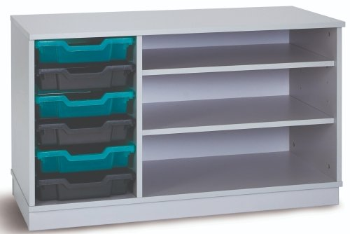 Monarch Premium Static 6 Shallow Tray Unit with 2 Shelf Compartment