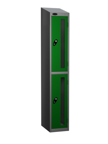 Probe Two Compartment Vision Panel Nest of Three Lockers - 1780 x 915 x 305mm