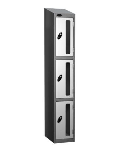 Probe Three Compartment Vision Panel Nest of Two Lockers - 1780 x 610 x 380mm