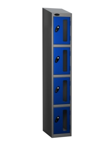 Probe Four Compartment Vision Panel Single Nest Locker - 1780 x 305 x 460mm