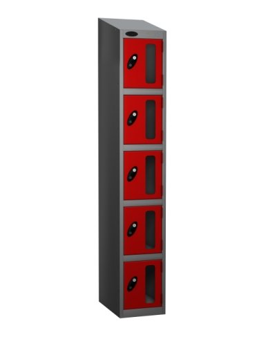 Probe Five Compartment Vision Panel Nest of Two Lockers - 1780 x 610 x 380mm