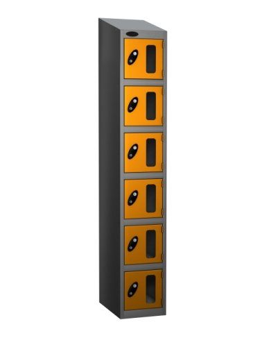 Probe Six Compartment Vision Panel Nest of Three Lockers - 1780 x 915 x 305mm