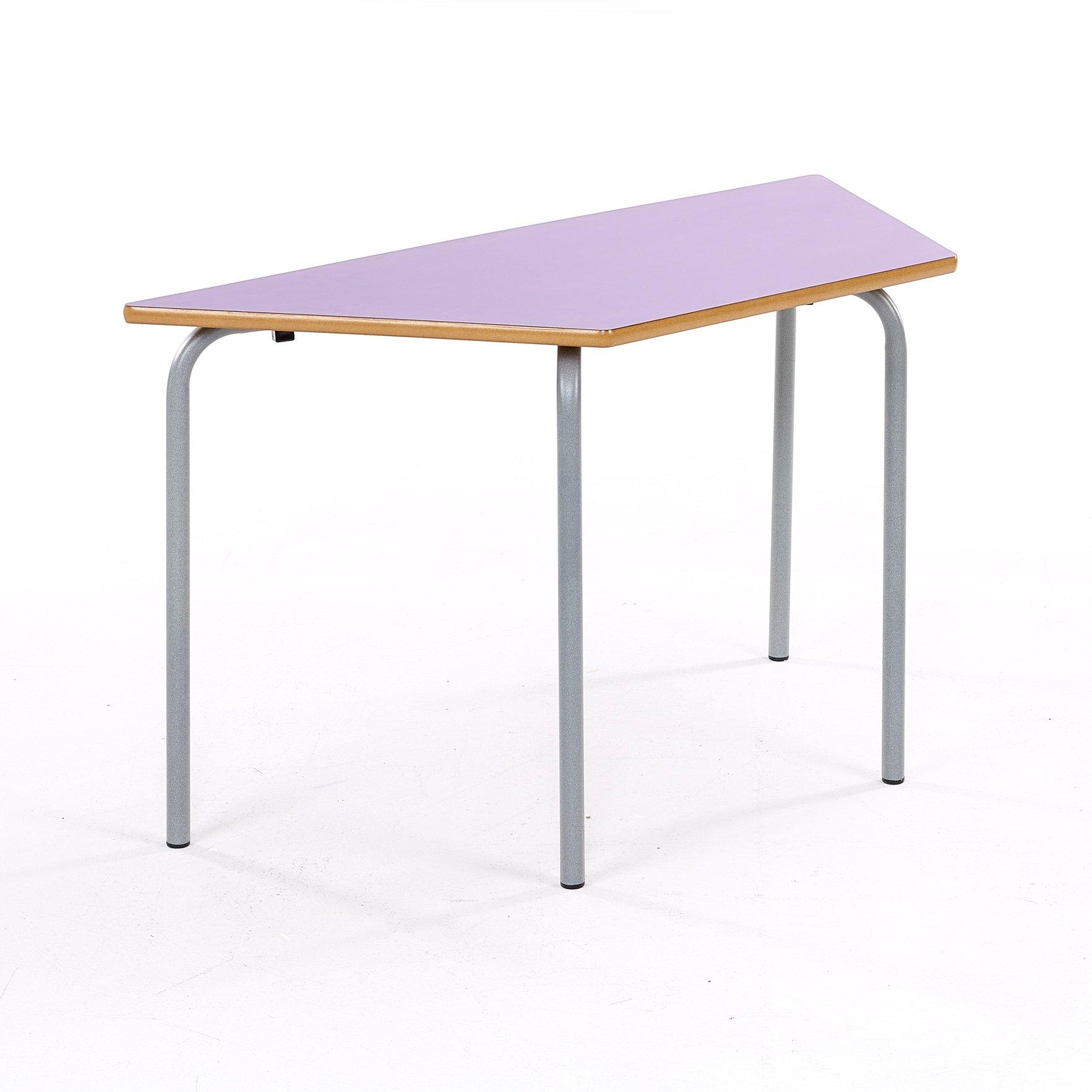 Metalliform standard nursery trapezoidal table mdf for Trapazoid table