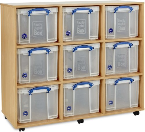 Monarch 9 x 35L Really Useful Box Storage Unit
