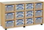 12 x 4L/ 6 x 9L Combination Really Useful Box Storage Unit