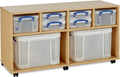 4 x 4L/ 2 x 9L/ 2 x 35L Really Useful Box Storage Unit