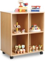 Monarch Stackable 4 Squares Unit- Beech