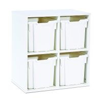 Monarch Stackable 4 Jumbo Tray Unit- White