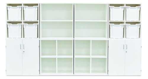 Monarch Stackable Unit with 1 Shelf- White