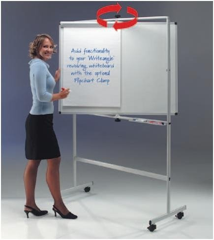 Gopak WriteAngle Revolving Laminate White Board - W900 x H1200mm