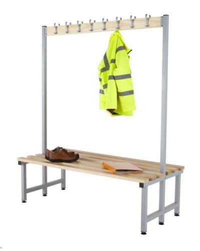 Probe Budget Cloakroom Double Sided Hook Bench 1500 x 720mm