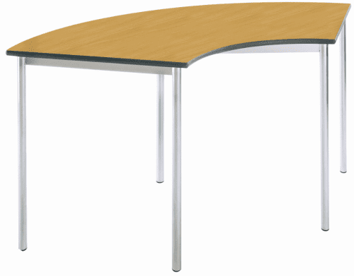 Metalliform Fully Welded Spiral Stacking Arc Shape Table - 1490 x 600mm