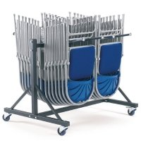 Principal 2600 Folding Chair With Upholstered Seat and Trolley Package