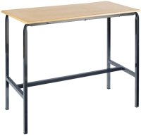 Metalliform Crushed Bent Rectangular Craft Table 1200 x 600mm MDF