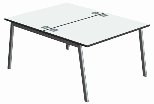 Metalliform Inspire Double Bench Desk - 1400mm x 1200mm