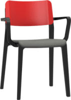 Origin MOJO Half Upholstered Classroom Chair with Armrests