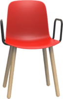 Origin FLUX 4 Leg Wood Classroom Chair With Arms