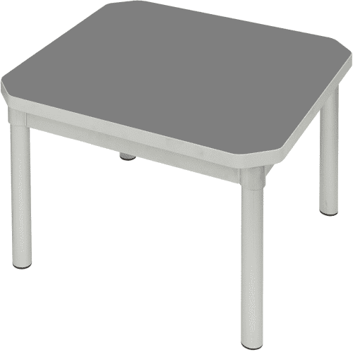 Gopak Enviro Silver Frame Coffee Table - Square 600 x 600mm