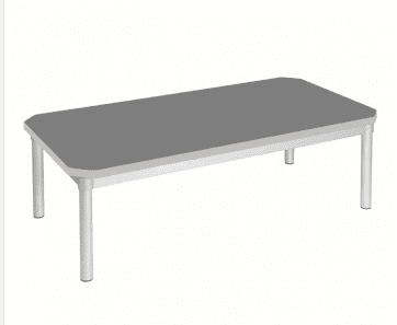 Gopak Enviro Silver Frame Coffee Table - Rectangular 1200 x 600mm