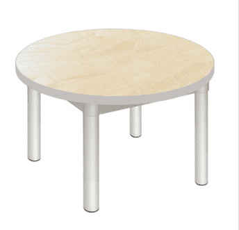 Gopak Enviro Silver Frame Coffee Table - Round 600mm Diameter