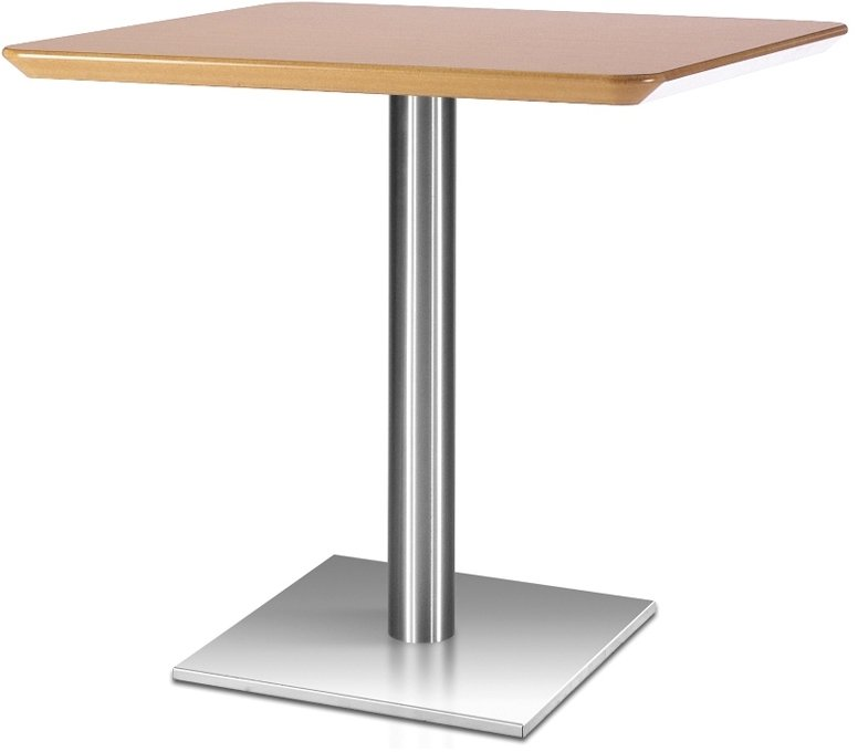 Frövi Flat Square Dining Table With Cutline Finish 600mm
