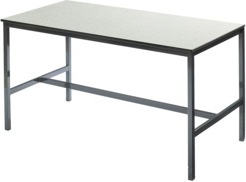 Metalliform Fully Welded H Frame School Craft/Laboratory Table With Trespa Top - 1200 x 600mm