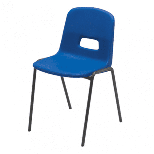 Hille GH20 Stacking Chair With Flint Grey Frame - Seat Height 350mm