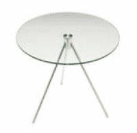 Elite Clear Glass Circular Coffee Table