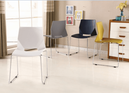 Metalliform Jewel Polypropylene Skid Base Chair