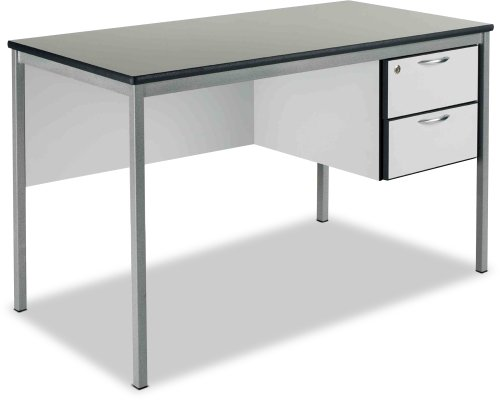 Metalliform Teachers 2 Drawer Fully Welded Frame Desk 1500mm x 750mm - MDF Edge
