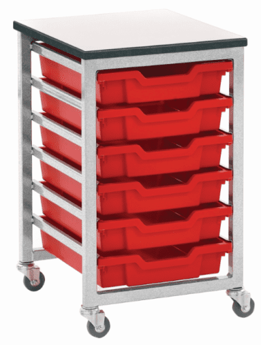 Metalliform Mobile 8000 Single 6 Tray Storage Unit
