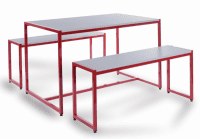 Monarch Small Steel Frame Dining Table Set
