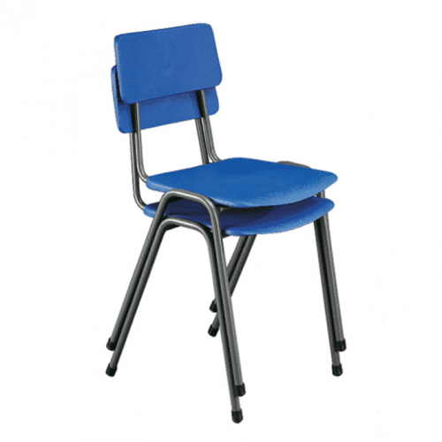 Hille MX24 Stacking Chair With Flint Grey Frame - Seat Height 260mm