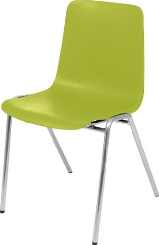 Hille MX70 Stacking Chair With Silver Frame