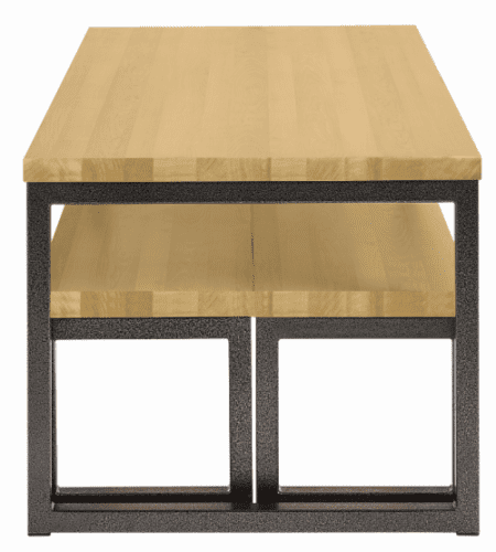Metalliform Premium Dining Table & Benches - Oak
