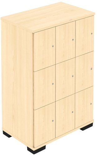 Elite Nine Locker Personal Storage Unit - Key Lock
